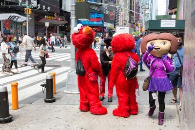 Mickey and Friends taking a Break, W 42st & Broadway